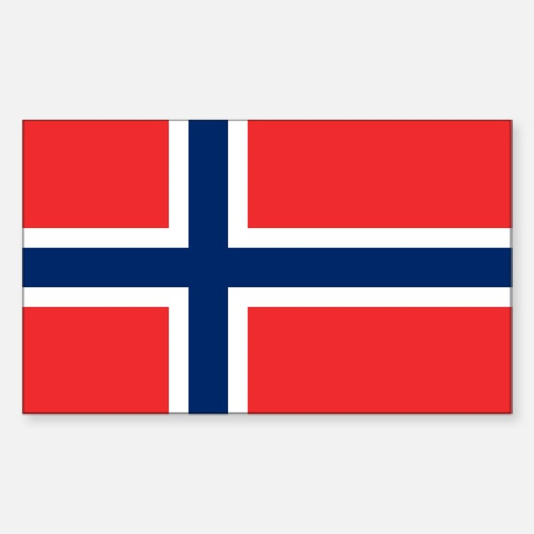 Norway Flag Sticker (Rectangle)