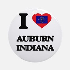 I love Auburn Indiana Ornament (Round)