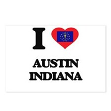 I love Austin Indiana Postcards (Package of 8)