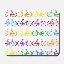 rainbow bicycles Mousepad