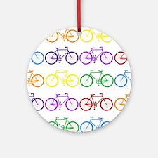 rainbow bicycles Ornament (Round)