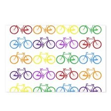 rainbow bicycles Postcards (Package of 8)