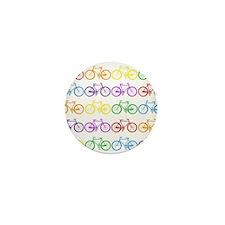 rainbow bicycles Mini Button