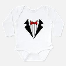 Cute Bowtie Long Sleeve Infant Bodysuit