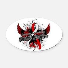 Squamous Cell Carcinoma Awareness Oval Car Magnet