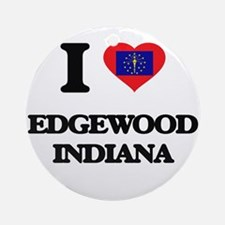 I love Edgewood Indiana Ornament (Round)