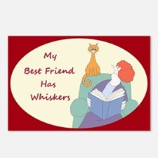 my best friend has whiskers Postcards (Package of