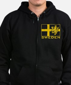 Unique Swedish vikings Zip Hoodie