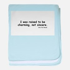 Charming not Sincere baby blanket