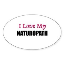 I Love My NATUROPATH Oval Decal
