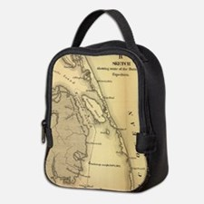 Vintage Map of The Outer Banks Neoprene Lunch Bag