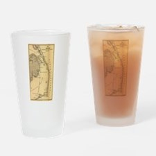 Vintage Map of The Outer Banks (186 Drinking Glass