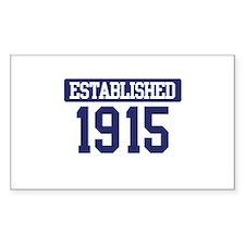 Established 1915 Rectangle Decal