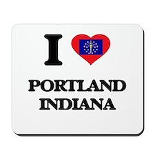 I love Portland Indiana Mousepad