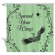 Spread Your Wings Design Shower Curtain