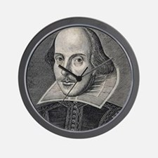 William Shakespeare Portrait Wall Clock