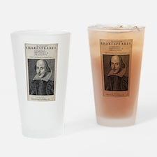 William Shakespeare Portrait Drinking Glass