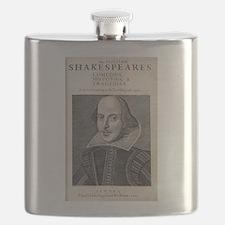 William Shakespeare Portrait Flask
