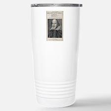William Shakespeare Por Travel Mug
