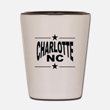 Charlotte NC Shot Glass