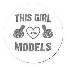 THIS GIRL LOVES LODELS Round Car Magnet