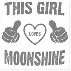 THIS GIRL LOVE MOONSHINE Canvas Art