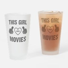 THIS GIRL LOVES MOVIES Drinking Glass