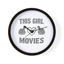 THIS GIRL LOVES MOVIES Wall Clock