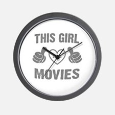 THIS GIRL LOVES MOVIES Wall Clock