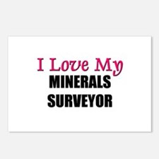 I Love My MINERALS SURVEYOR Postcards (Package of