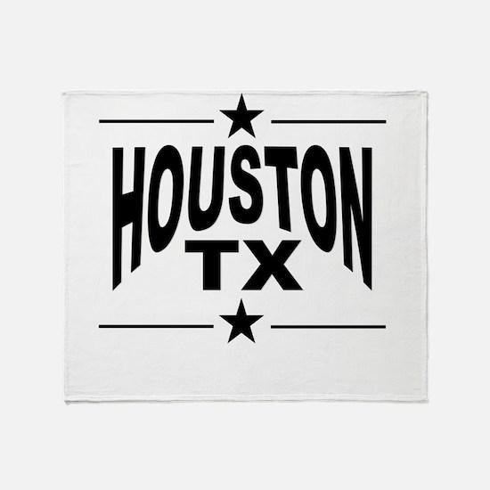 Houston TX Throw Blanket