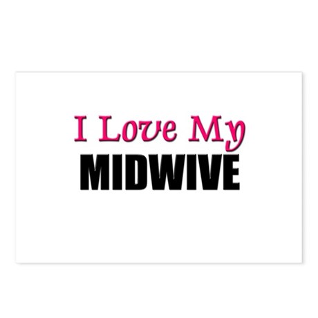 I Love My MIDWIVE Postcards (Package of 8)
