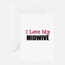I Love My MIDWIVE Greeting Cards (Pk of 10)