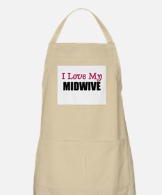 I Love My MIDWIVE BBQ Apron