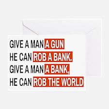Banks Rob The World Greeting Card