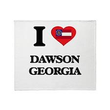 I love Dawson Georgia Throw Blanket