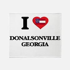 I love Donalsonville Georgia Throw Blanket