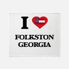 I love Folkston Georgia Throw Blanket