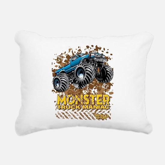 Monster Truck Maniac Rectangular Canvas Pillow