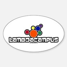 Lambda Bubbles Oval Decal