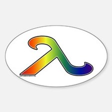 Rainbow Lambda Oval Decal