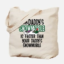 Daddy's Snowmobile Tote Bag