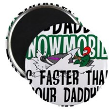 "Daddy's Snowmobile 2.25"" Magnet (10 pack)"
