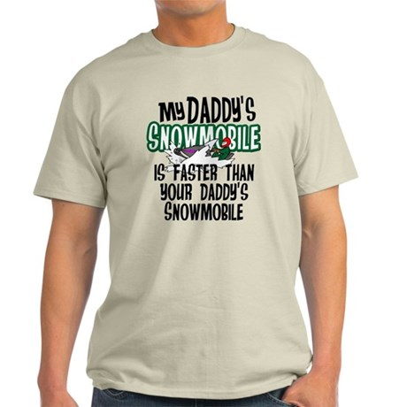 Daddy's Snowmobile Light T-Shirt