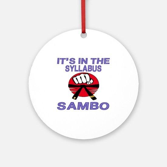 It's in the Syllabus Sambo Round Ornament