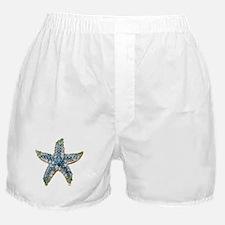 Rhinestone Starfish Costume Jewelry S Boxer Shorts