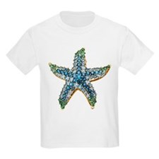 Rhinestone Starfish Costume Jewelry T-Shirt