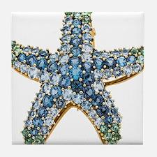 Rhinestone Starfish Costume Jewelry S Tile Coaster