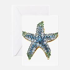 Rhinestone Starfish Costume Jewelry Greeting Cards