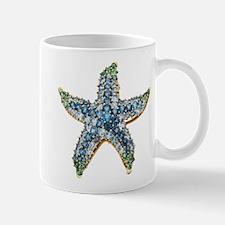 Rhinestone Starfish Costume Jewelry Sapphire Mugs